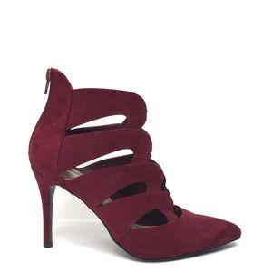 NINE WEST Burgundy Cut Out Heels 6
